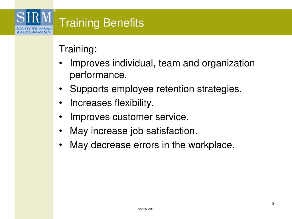 Training Benefits