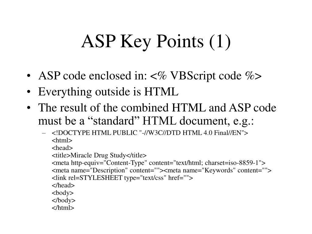 ASP Key Points (1)