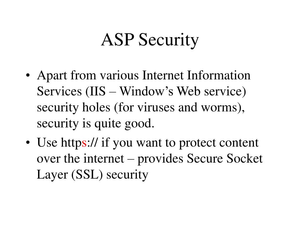 ASP Security