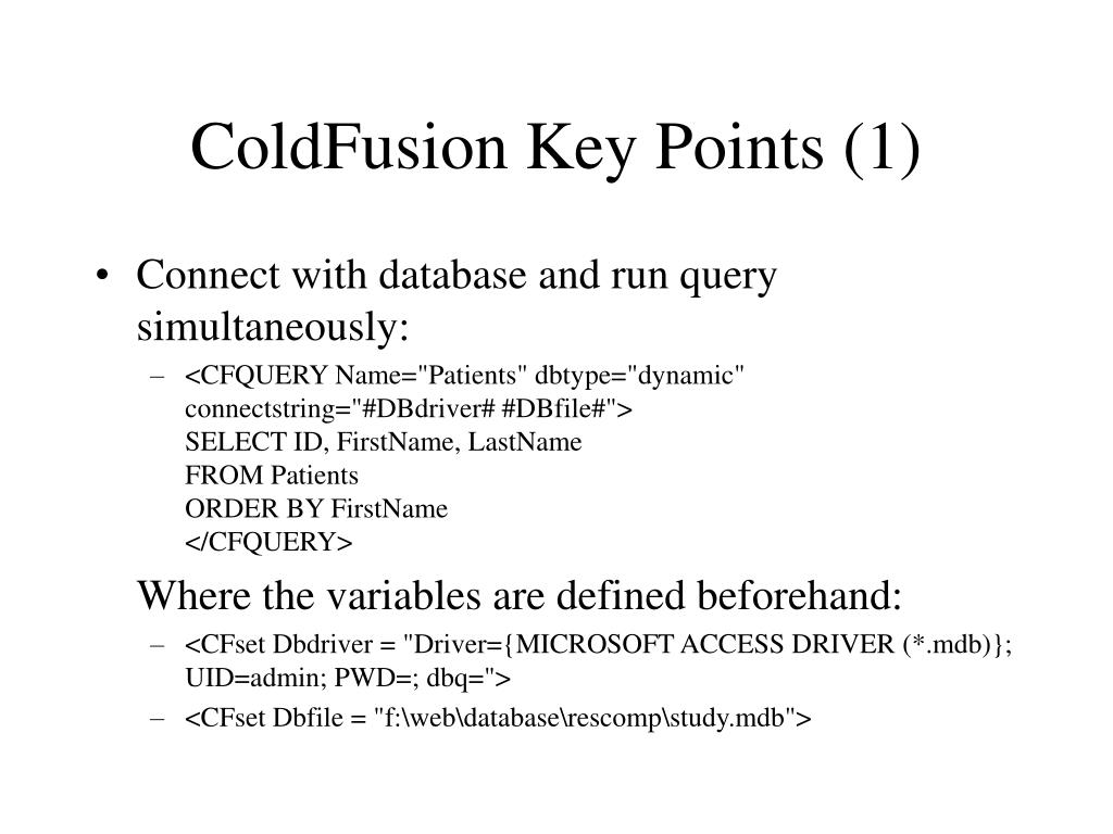 ColdFusion Key Points (1)