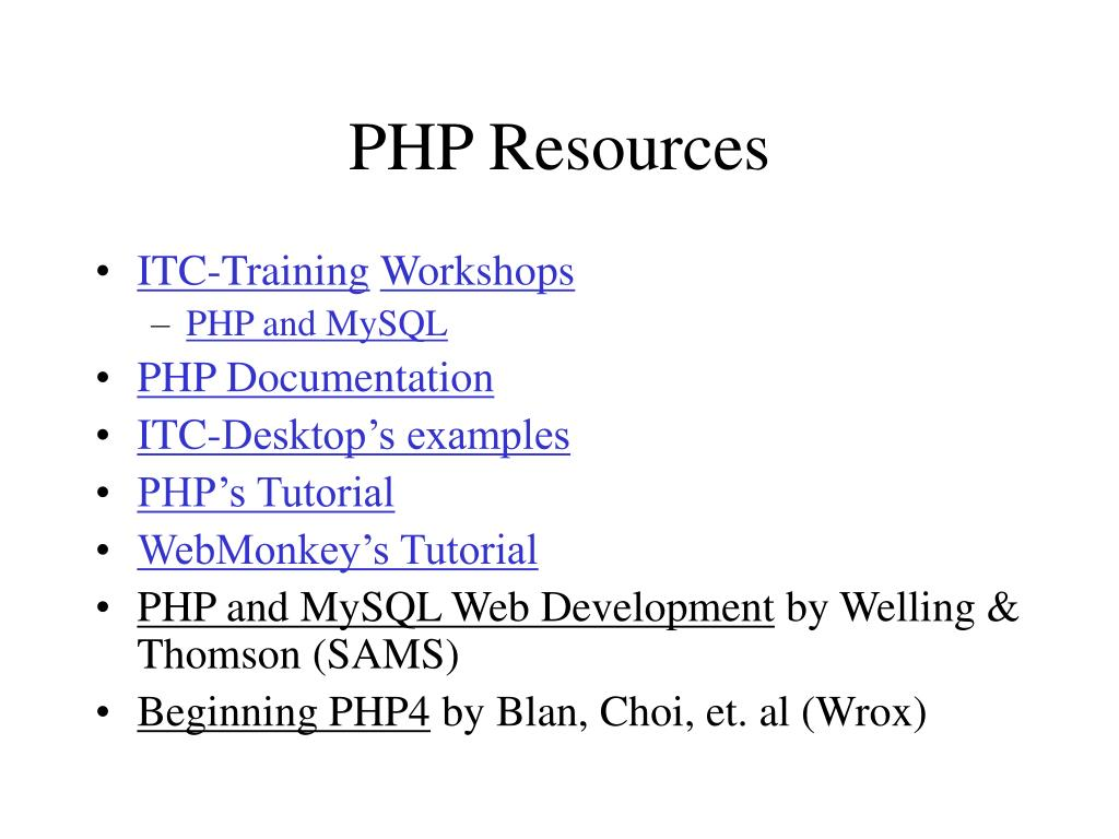 PHP Resources