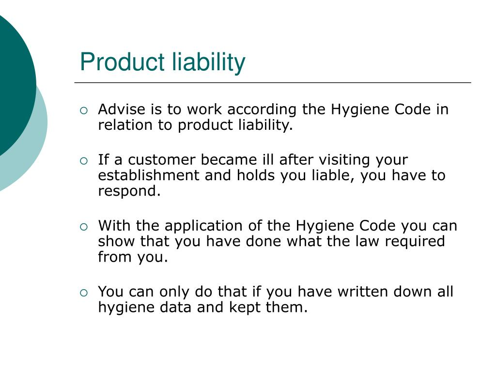 liability haccp gmp restaurants hygiene advise relation according code ppt powerpoint presentation slideserve