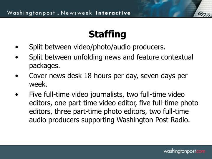 Split between video/photo/audio producers.