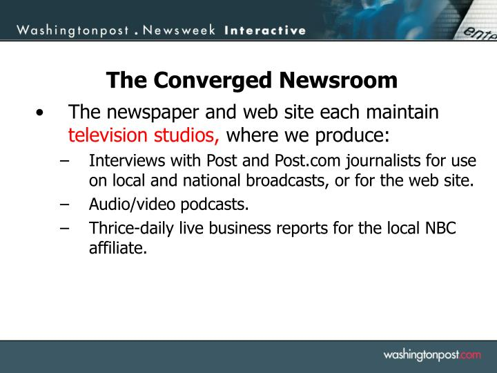 The newspaper and web site each maintain