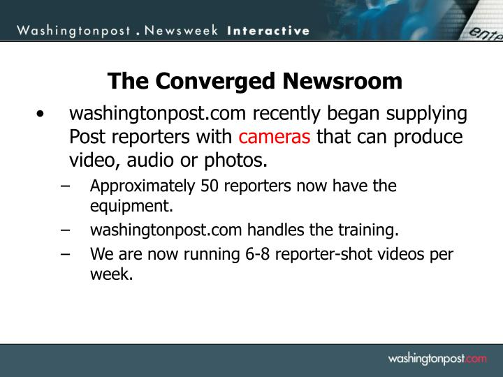 washingtonpost.com recently began supplying Post reporters with