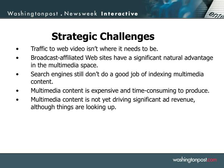 Traffic to web video isn't where it needs to be.