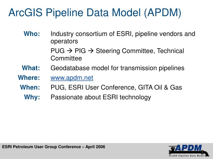 Arcgis pipeline data model apdm