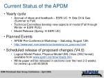 current status of the apdm