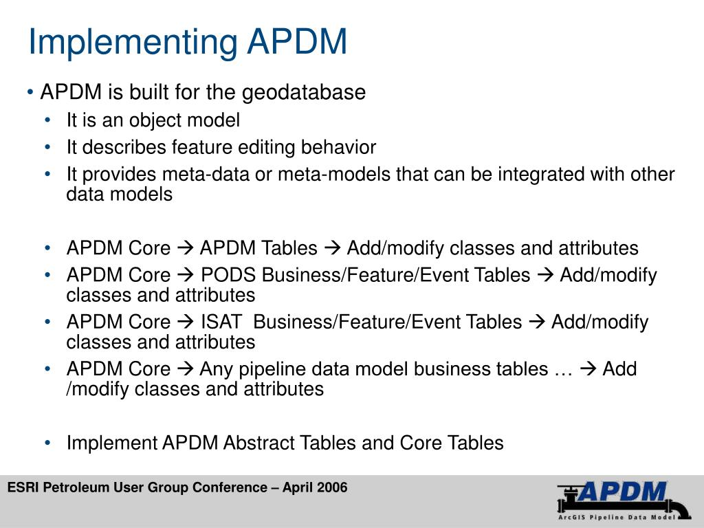 Implementing APDM