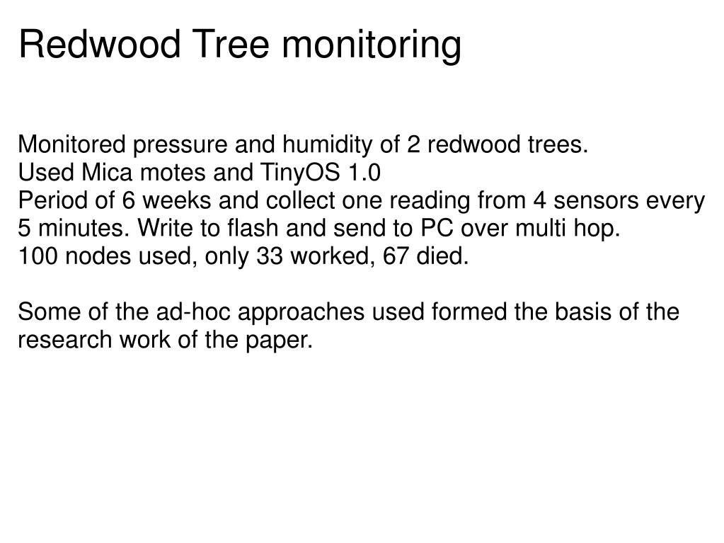 Redwood Tree monitoring