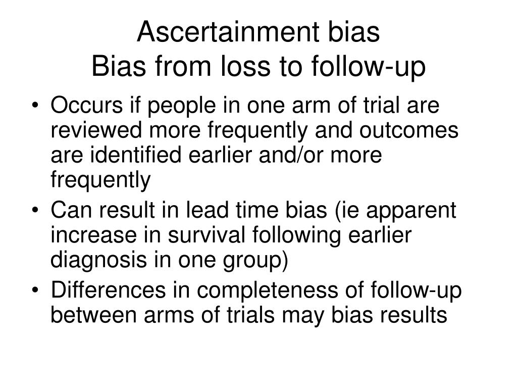 Ascertainment bias