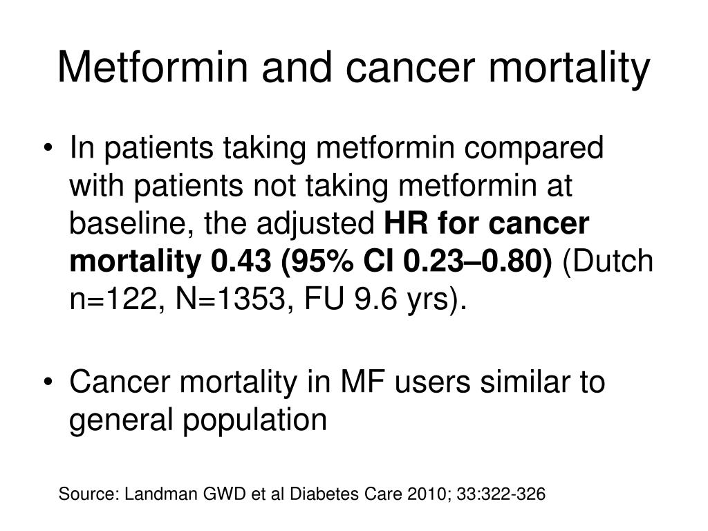 Metformin and cancer mortality