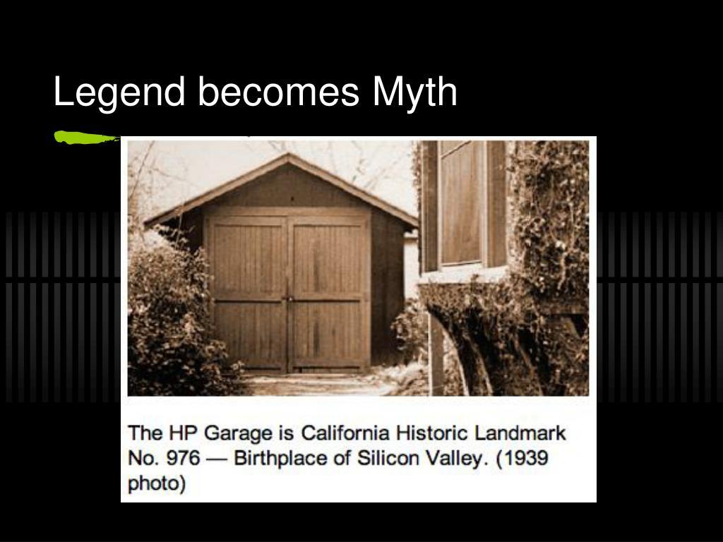 Legend becomes Myth