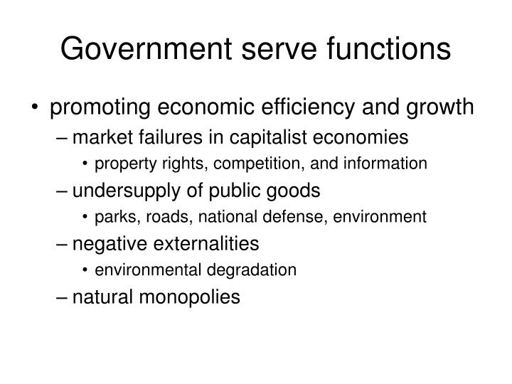 Government serve functions