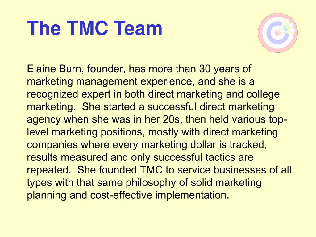 The TMC Team