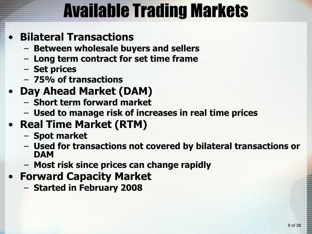 Available Trading Markets