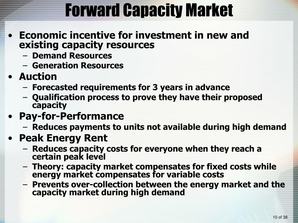 Forward Capacity Market