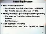 operating reserve28