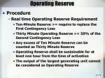 operating reserve30