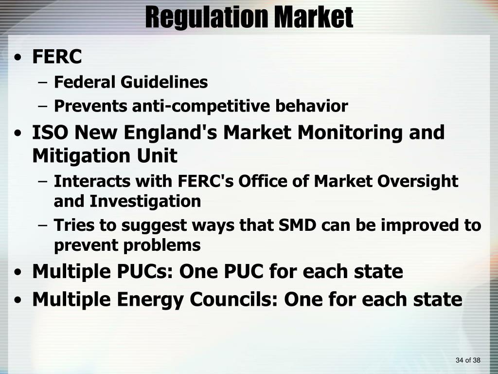 Regulation Market