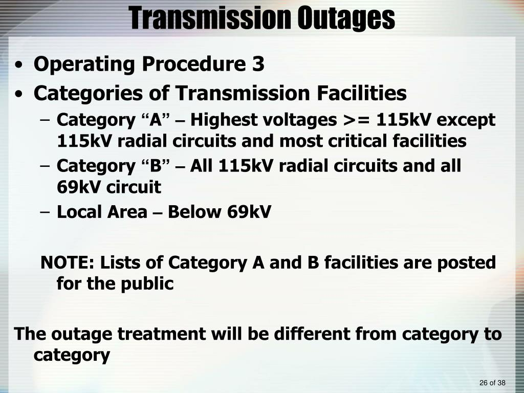 Transmission Outages