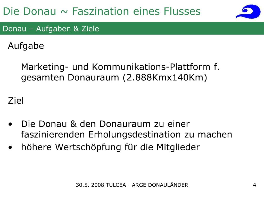 Donau – Aufgaben & Ziele