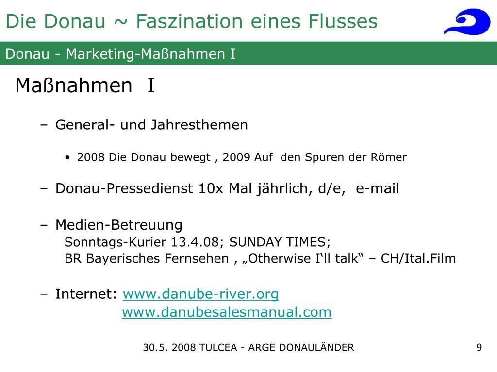 Donau - Marketing-Maßnahmen I