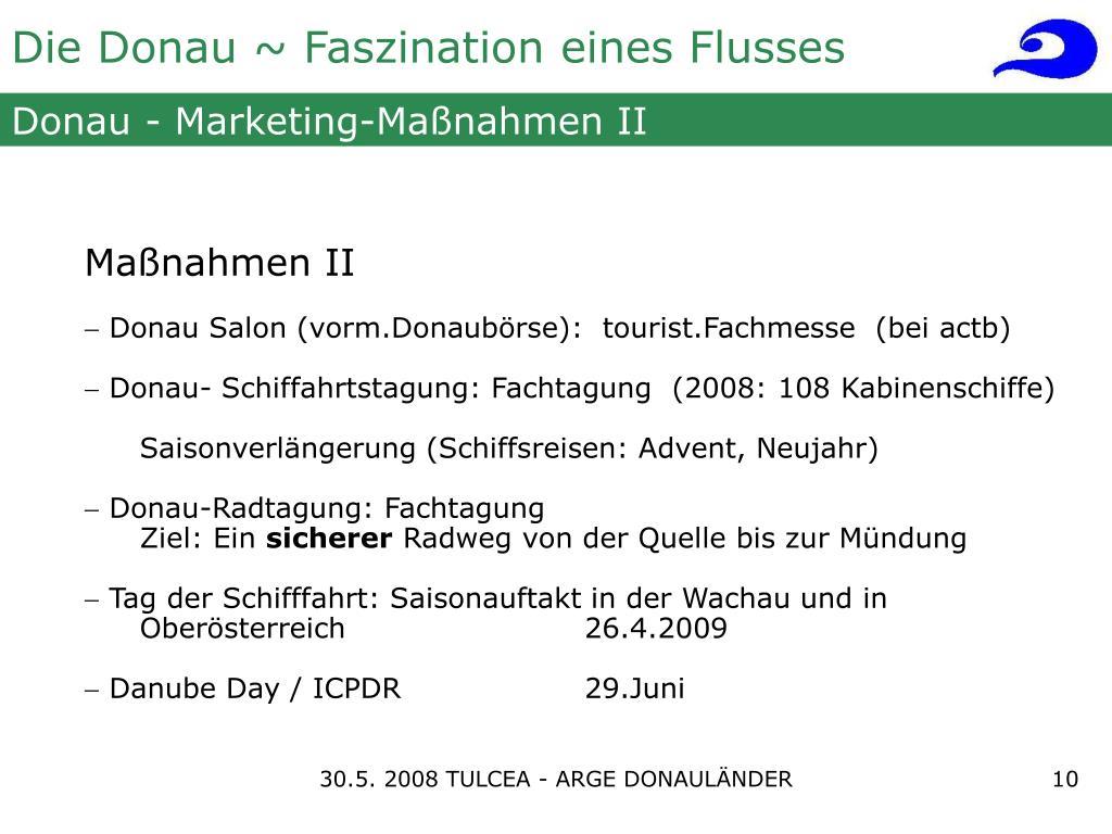 Donau - Marketing-Maßnahmen II