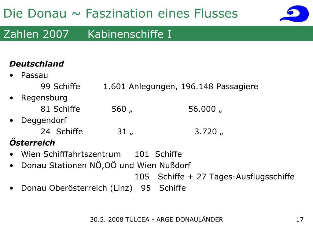 Zahlen 2007     Kabinenschiffe I