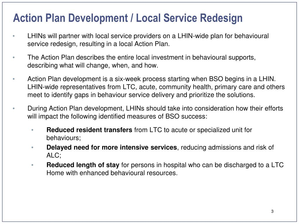 Action Plan Development / Local Service Redesign