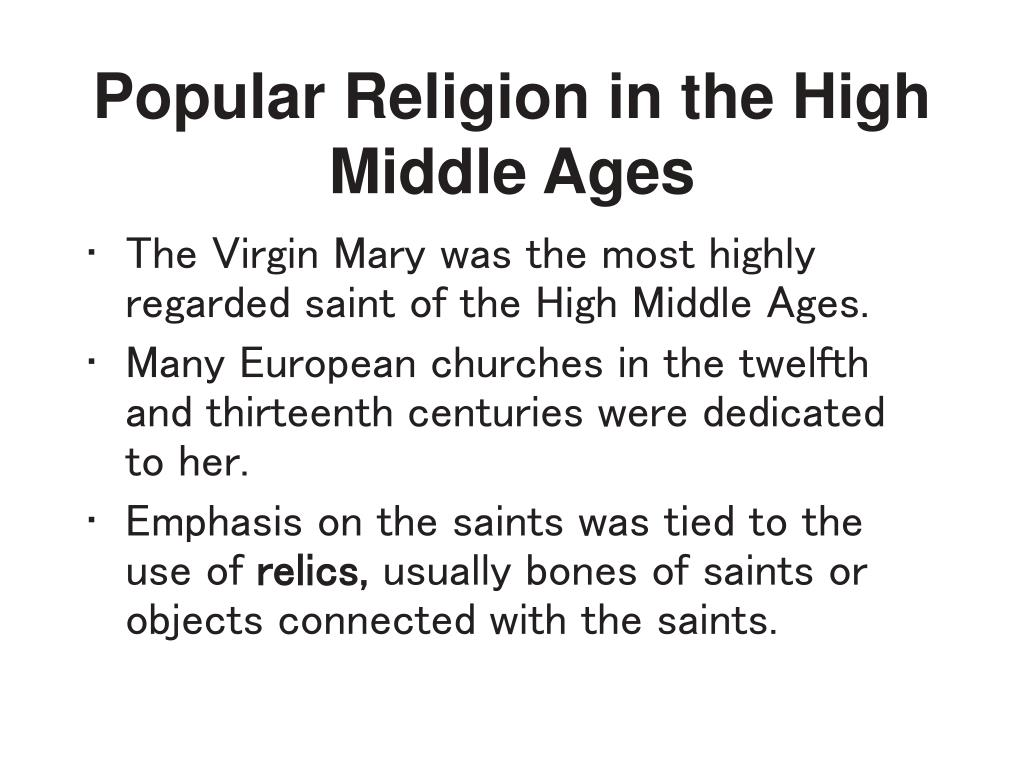 Popular Religion in the High Middle Ages