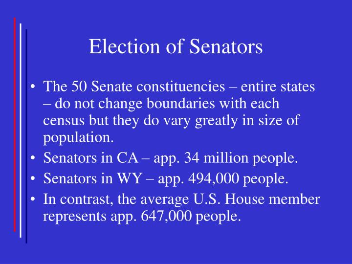 Election of Senators