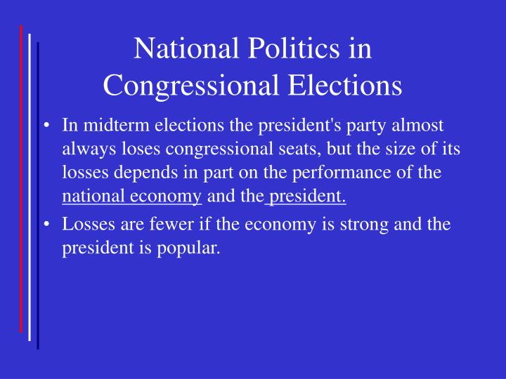 National Politics in Congressional Elections