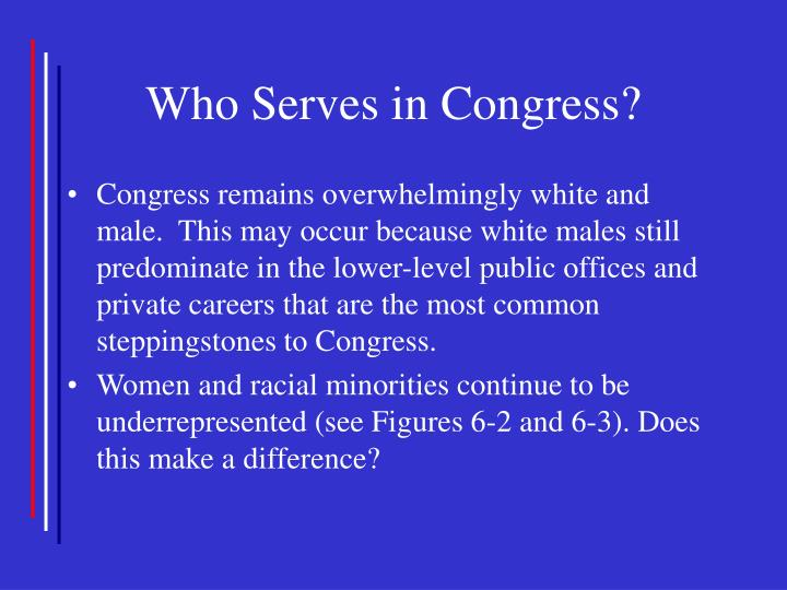 Who Serves in Congress?