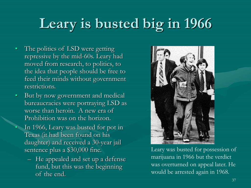 Leary is busted big in 1966