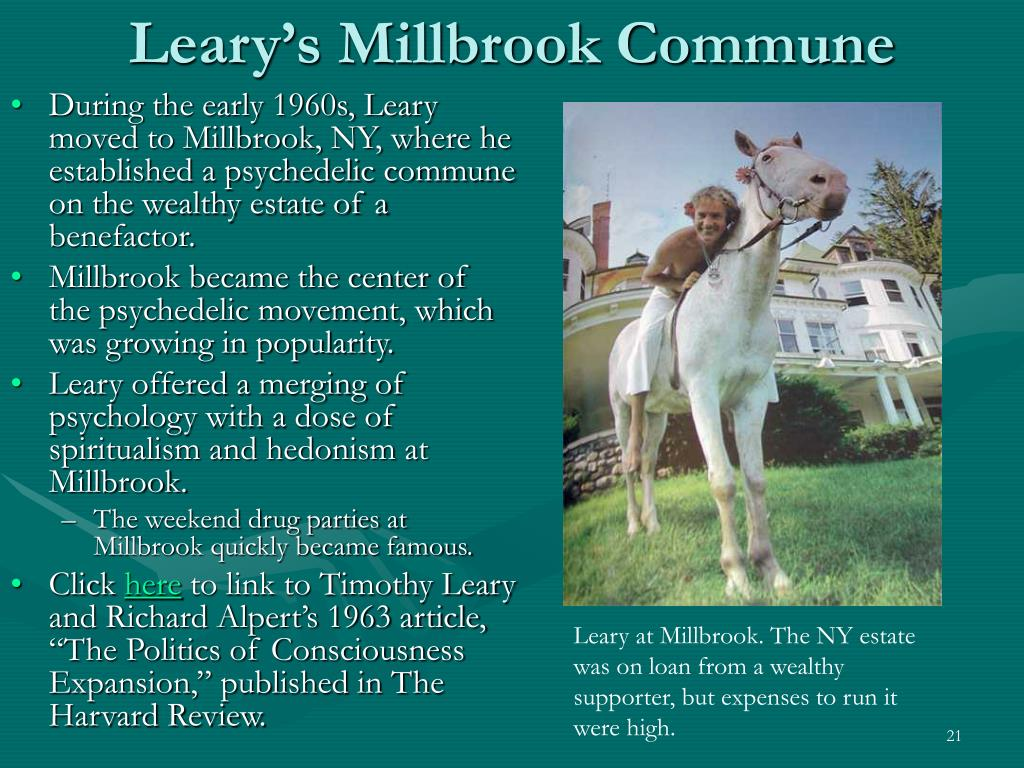 Leary's Millbrook Commune