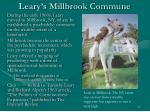 leary s millbrook commune