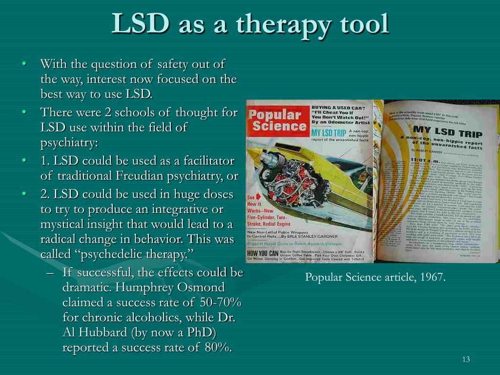 LSD as a therapy tool