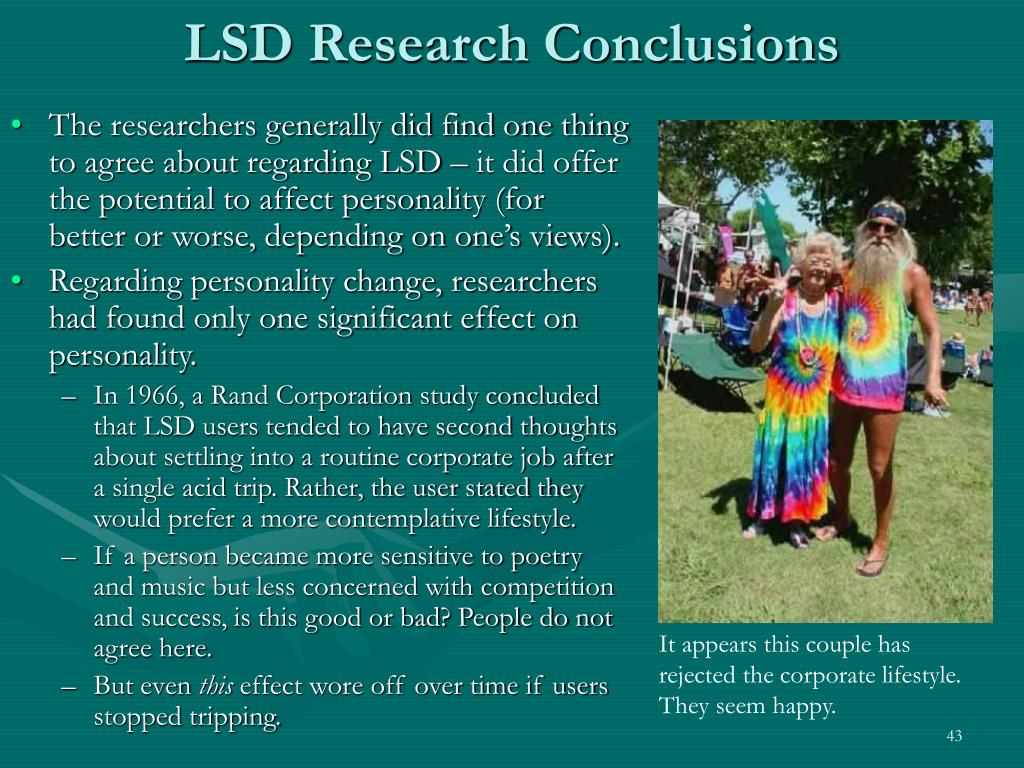LSD Research Conclusions