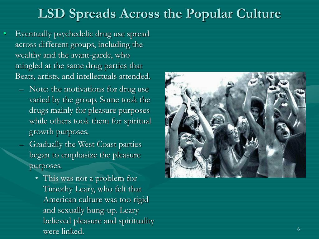 LSD Spreads Across the Popular Culture