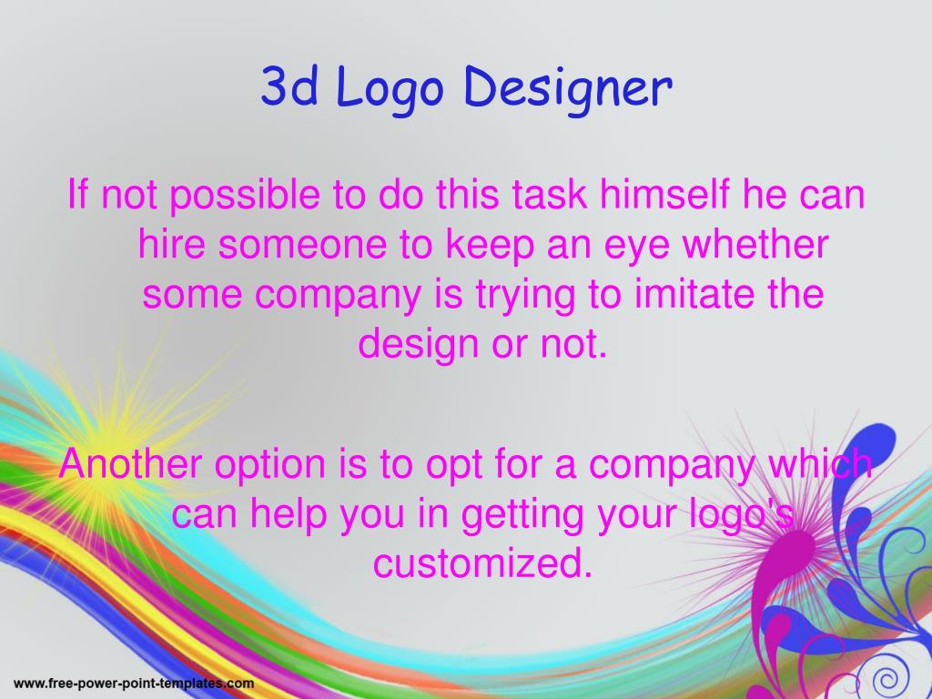 3d Logo Designer