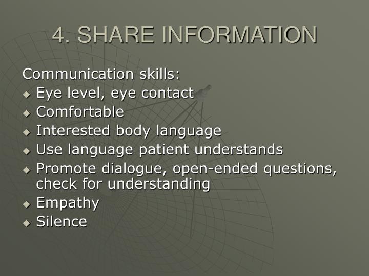 4. SHARE INFORMATION