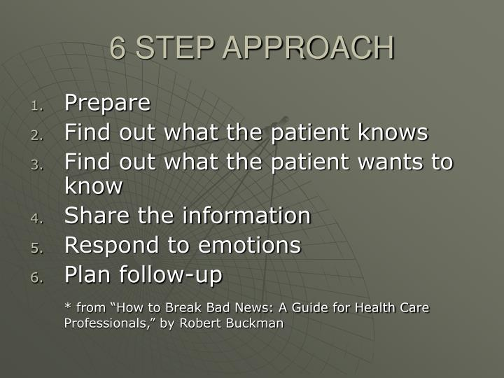 6 STEP APPROACH