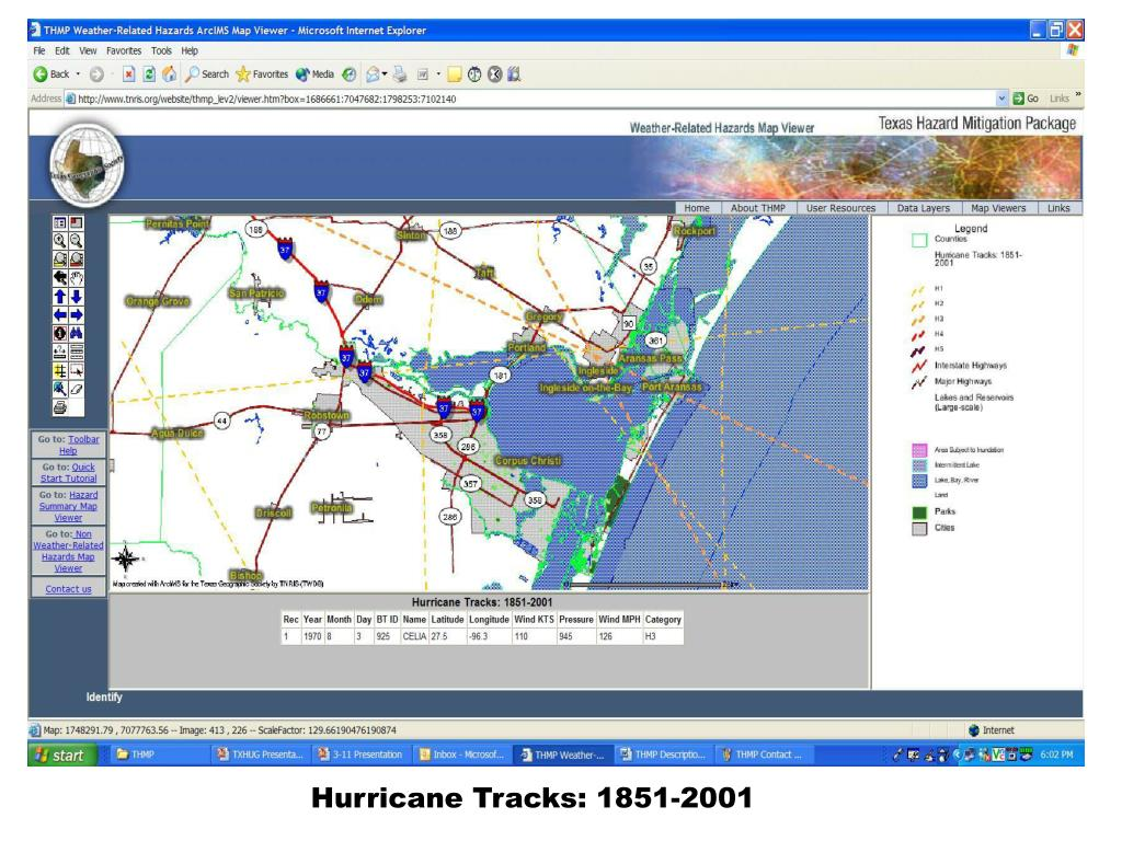 Hurricane Tracks: 1851-2001