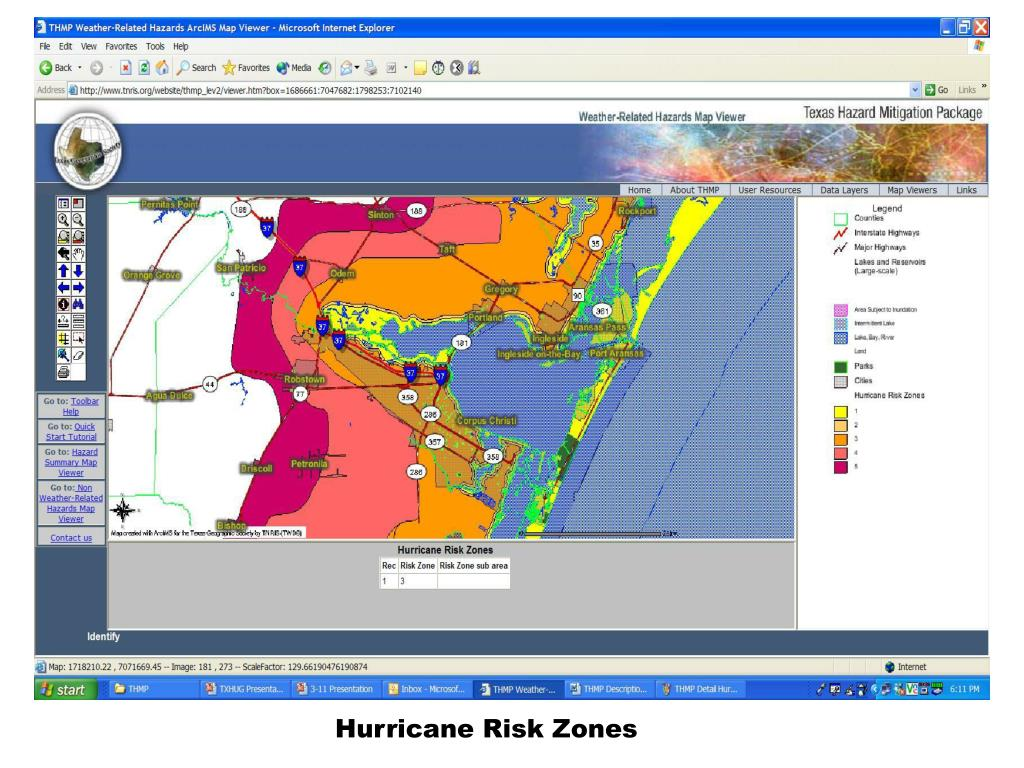 Hurricane Risk Zones
