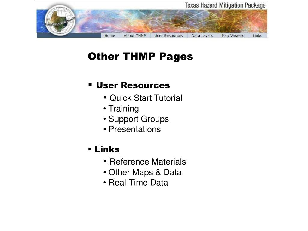 Other THMP Pages