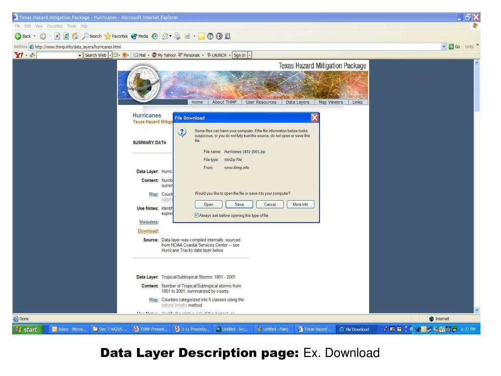 Data Layer Description page: