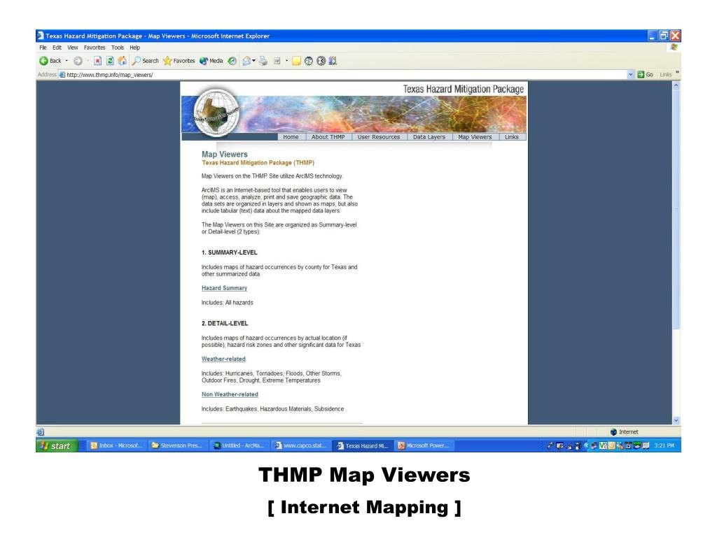 THMP Map Viewers
