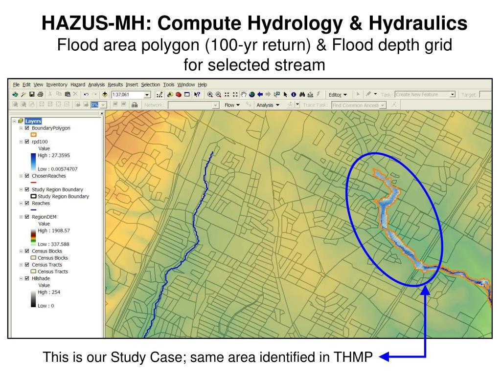 HAZUS-MH: Compute Hydrology & Hydraulics