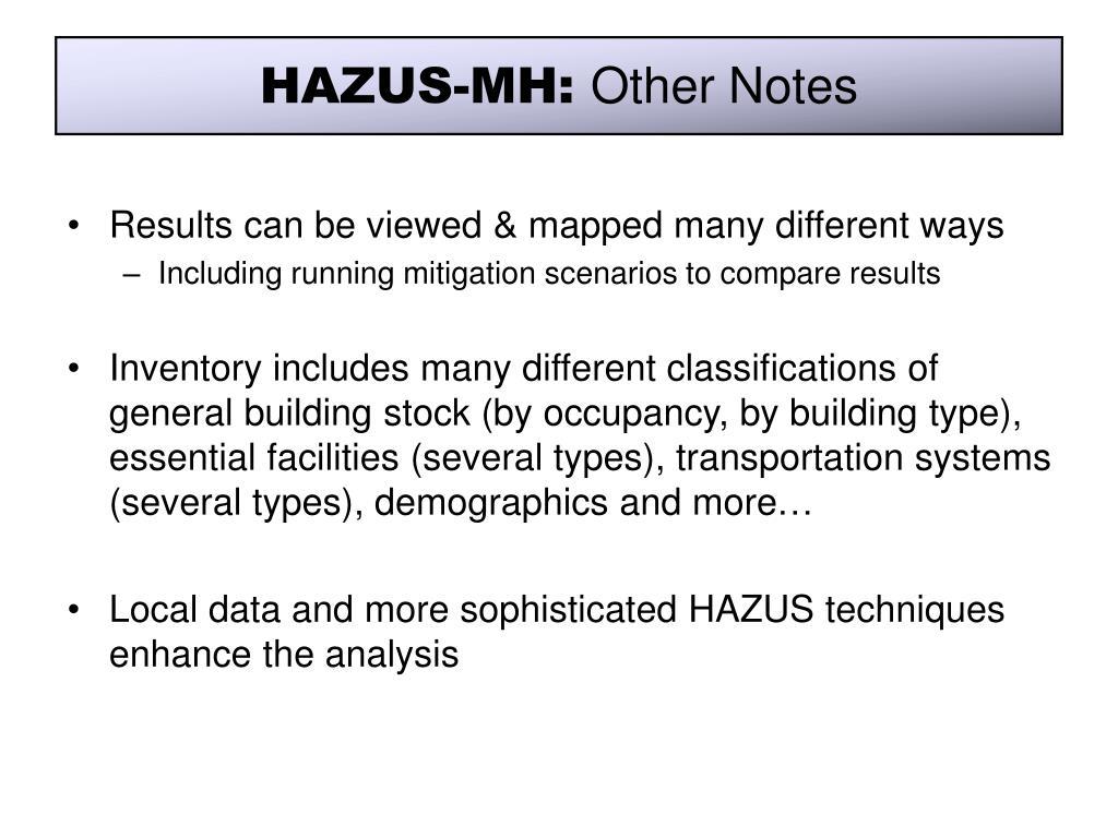 HAZUS-MH: